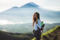 women on mountain