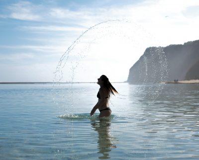 girl in ocean