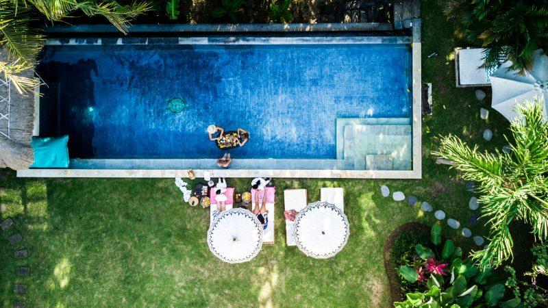 bird eye view of pool