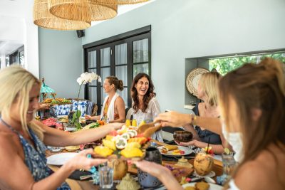friends sharing meals