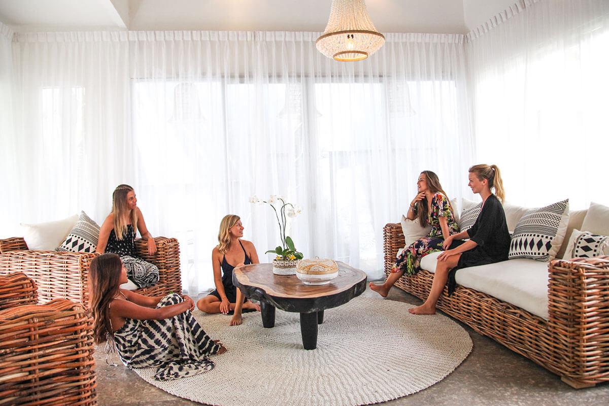 Ladies in lounge